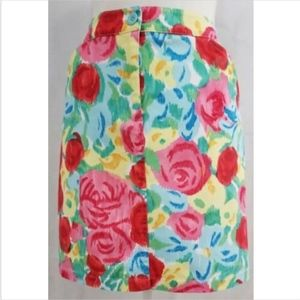Talbots Women's Skirt 10P 10 petites pencil floral